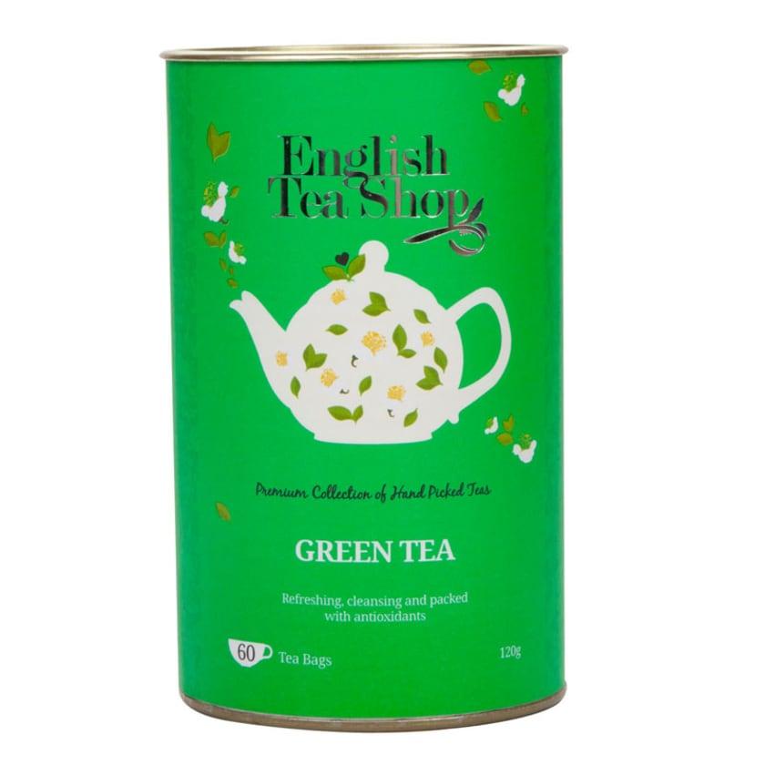 English Tea Shop - Grüner Tee, BIO, 60 Teebeutel in Dose