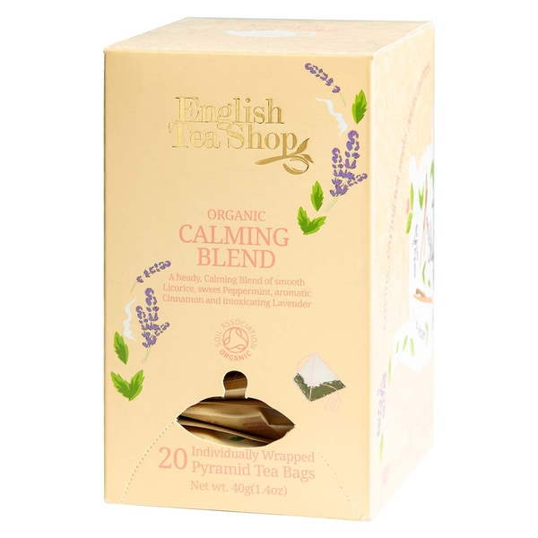 English Tea Shop Calming Blend Bio 20 Pyramiden Beutel einzeln kuvertiert