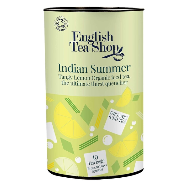 English Tea Shop Eistee Indian Summer spritzige Zitrone Bio Dose 10 Teebeutel für je 1 Liter