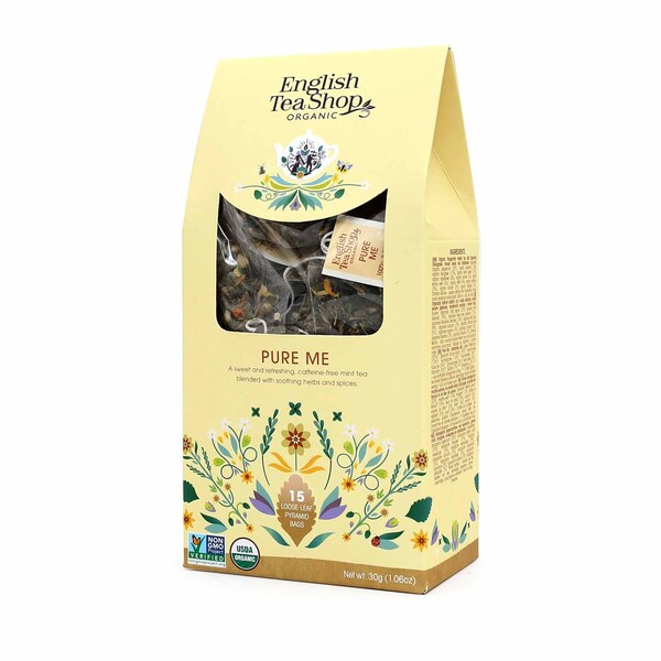 English Tea Shop Pure Me Bio 15 Pyramiden Beutel in Papierbox