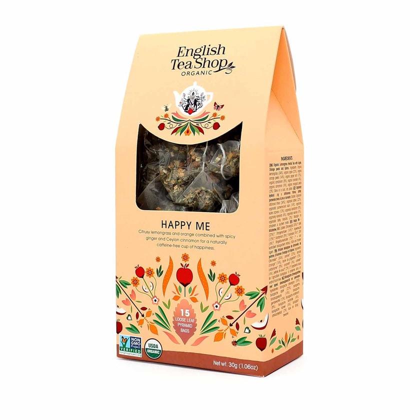 English Tea Shop Happy Me Bio 15 Pyramiden Beutel in Papierbox