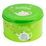 English Tea Shop White & Green Tea Selection Green Runde Tee Geschenkdose aus Metall mit 30 Bio Tees in Pyramidenbeutel