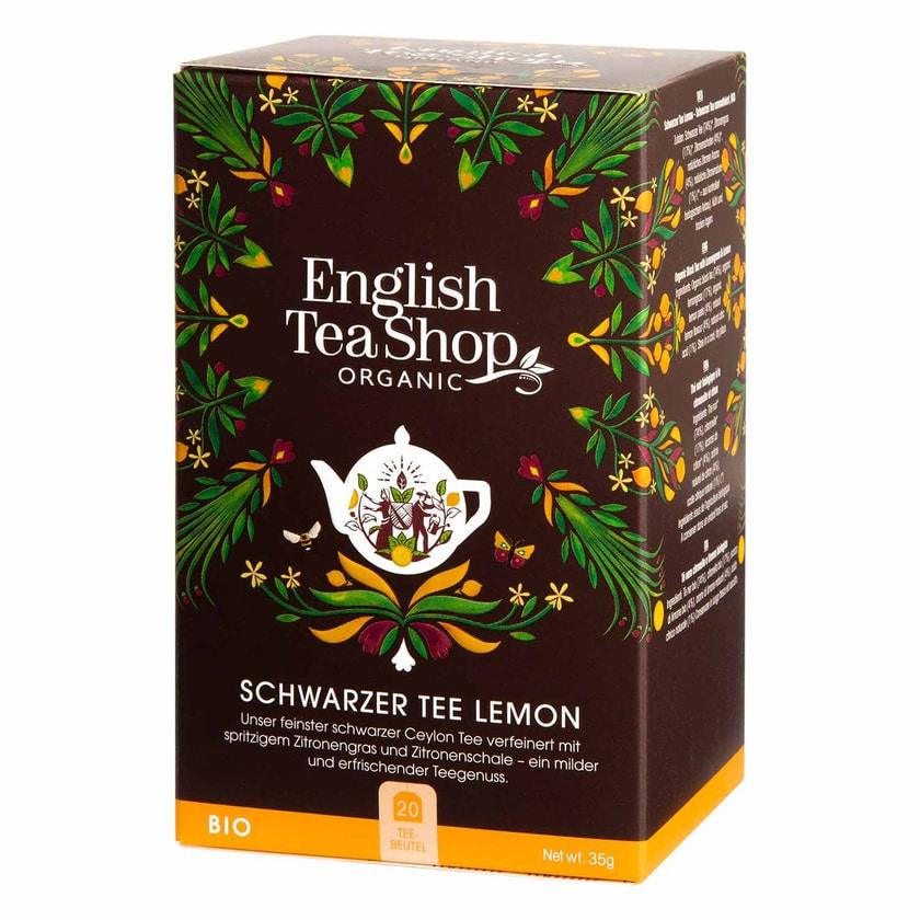 English Tea Shop Schwarzer Tee Lemon Bio 20 Teebeutel