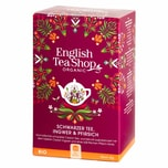 English Tea Shop Schwarzer Tee Ingwer & Pfirsich Bio 20 Teebeutel