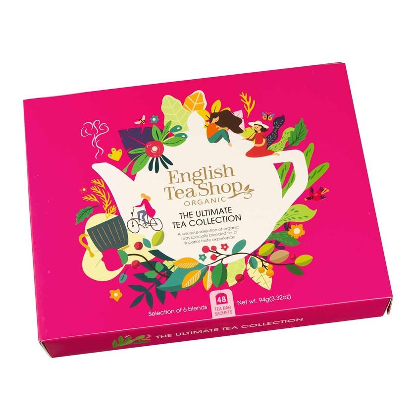 English Tea Shop Best of Bio Tee Kollektion Geschenkbox pink 6 Sorten 48 Teebeutel