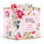 English Tea Shop - English Breakfast, BIO, Loser Tee, 85g Dose (Shabby Chic Floral Tin)