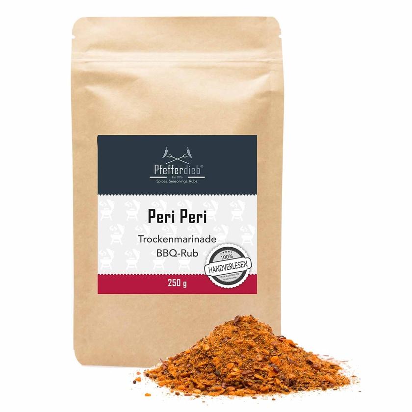 Pfefferdieb Peri Peri Premium Grillgewürz Trockenmarinade BBQ Rub 250g