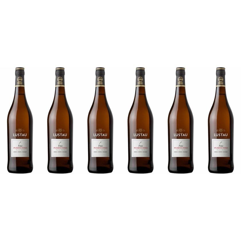 Emilio Lustau Fino del Puerto Sherry 15% vol Jerez Sherry 6 x 0.75 l