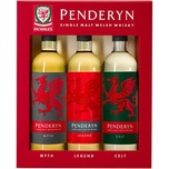 Penderyn Trio Penderyn Dragon Range 41% vol Welsh Whisky Whisky 6 x 0.6 L