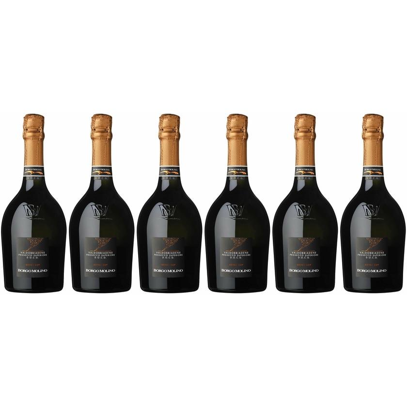 Borgo Molino Prosecco Superiore extra dry Venetien Prosecco 6 x 0.75 l