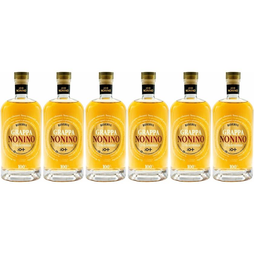 Nonino Grappa Nonino Vendemmia Riserva 41% vol Friuli - Grappa Nonino 2016 Grappa 6 x 0.5 L
