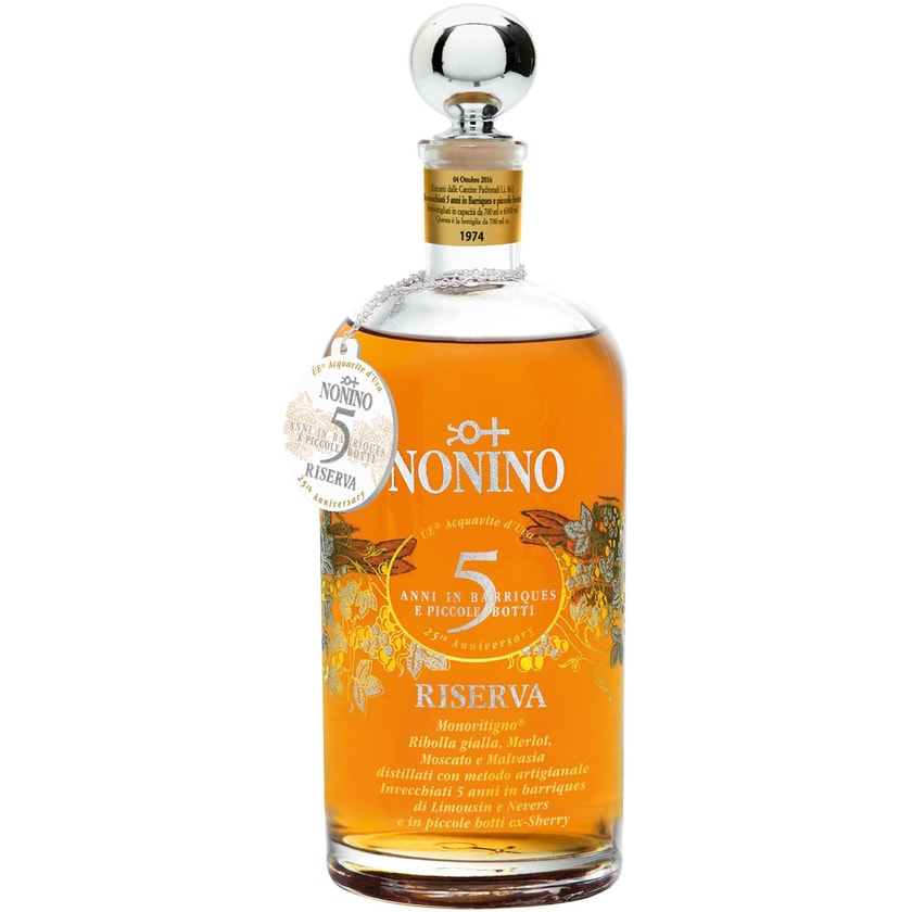 Nonino Ùe Riserva 5 Jahre 43% vol. Friuli - Ùe Nonino Obstbrand 1 x 0.7 l