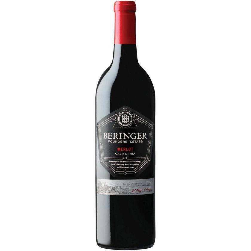 Beringer Merlot Founders' Estate Kalifornien 2017 Wein 1 x 0.75 l
