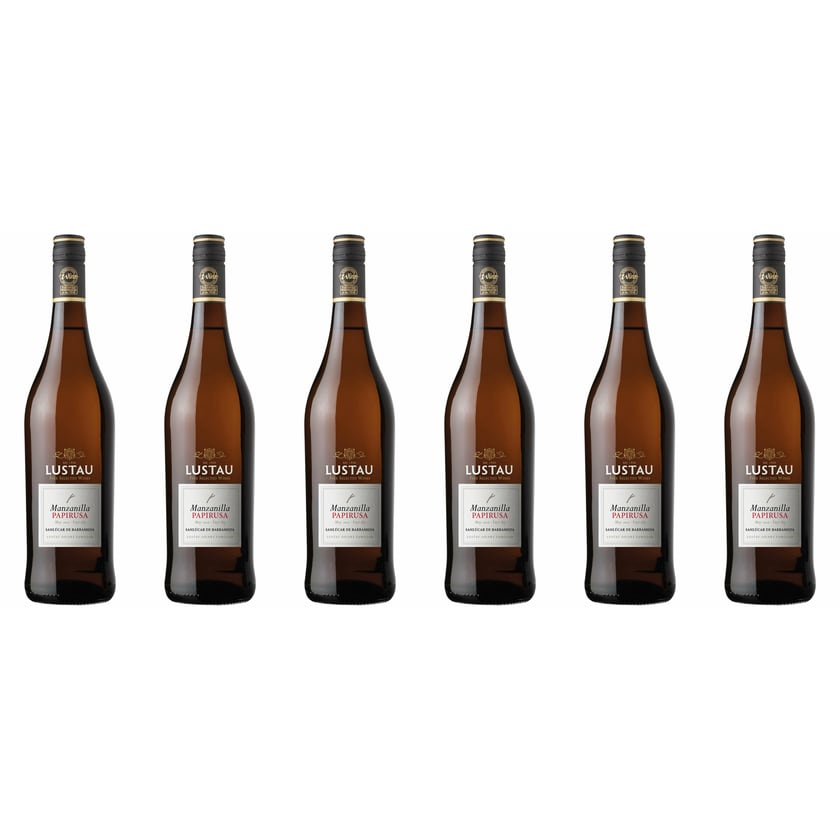 Emilio Lustau Manzanilla Sherry Papirusa 15% vol Jerez Sherry 6 x 0.75 l