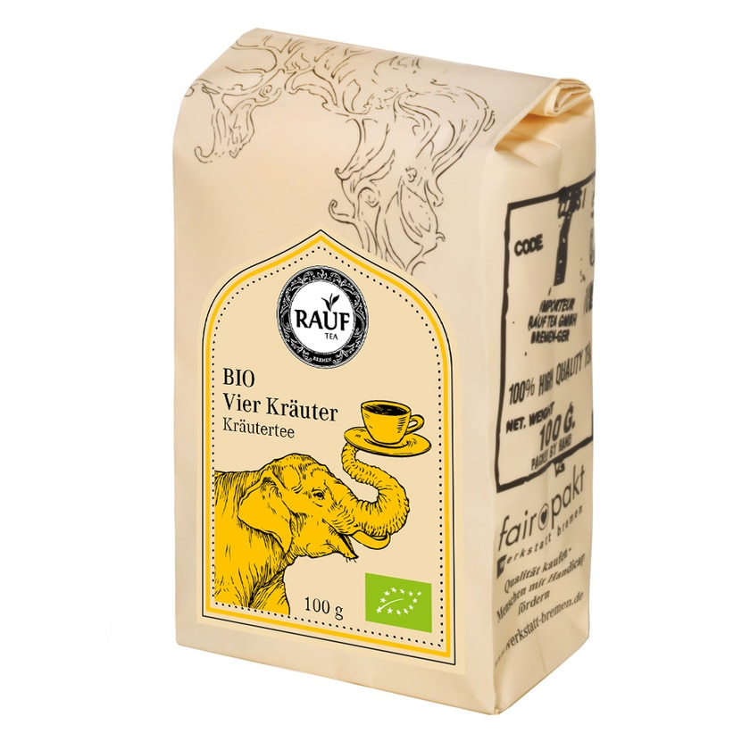 Rauf Tee BIO Vier Kräuter 100g