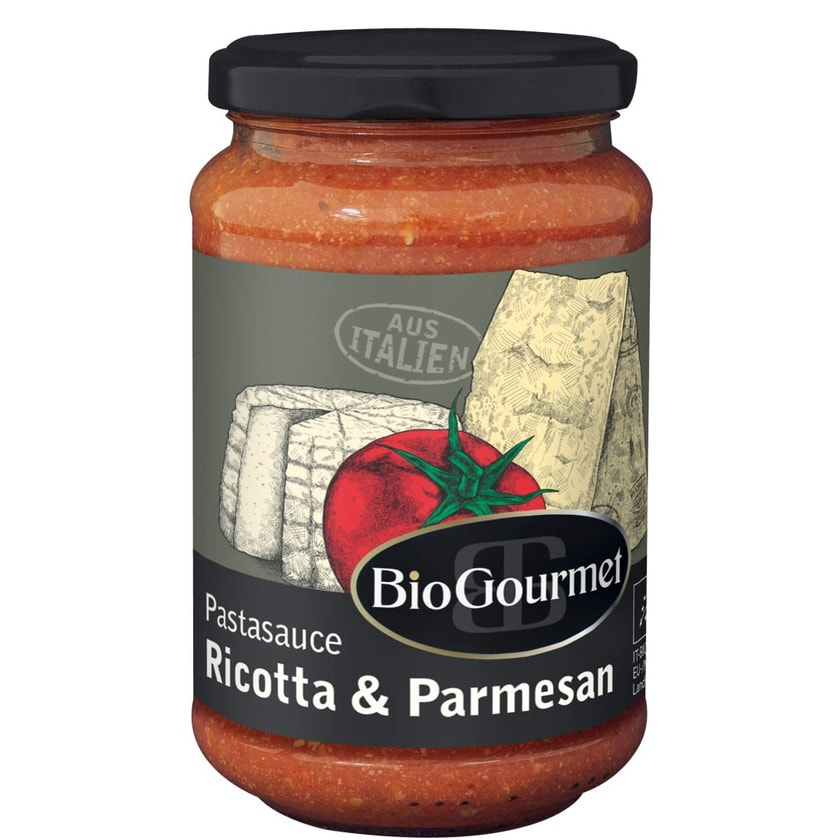 BioGourmet Pastasauce Ricotta & Parmesan 340g