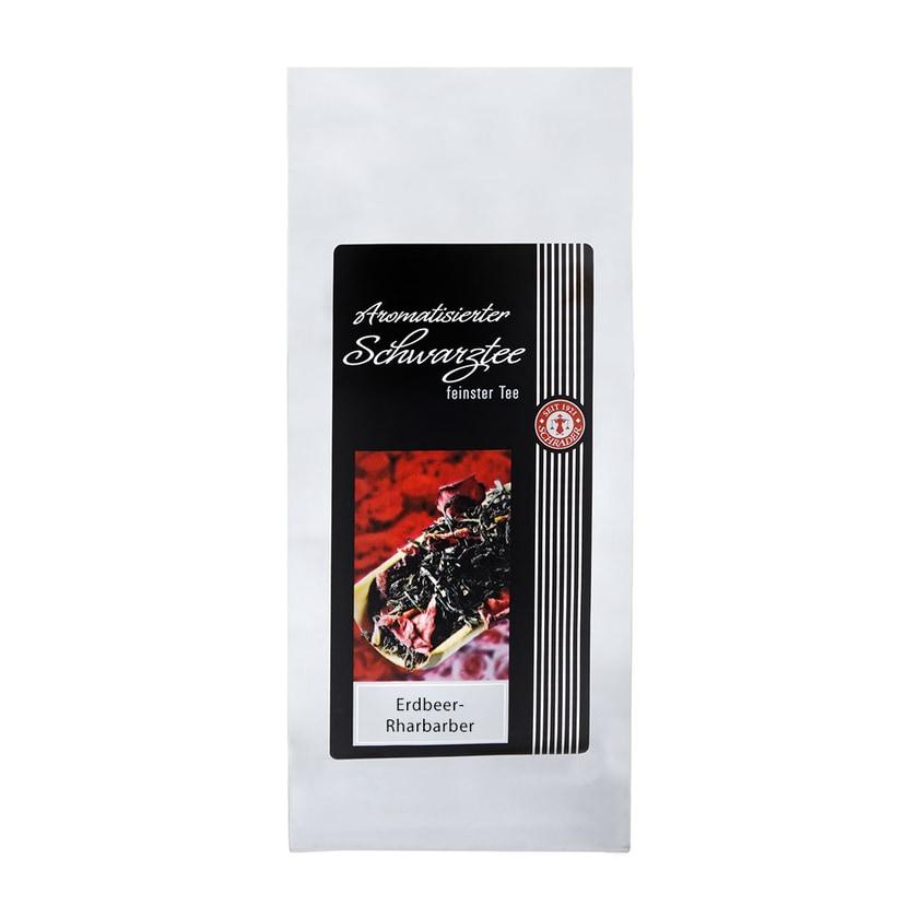 Schrader Schwarzer Tee Erdbeer-Rharbarber 125g