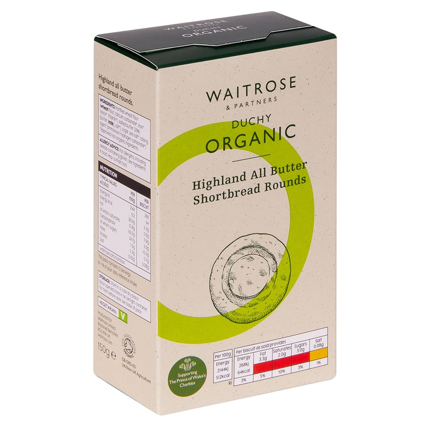 Duchy Originals Shortbread Butter Bio 150g