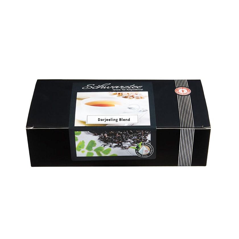 Schrader Teebeutel Schwarzer Tee Darjeeling Blend First und Second Flush Bio 50g