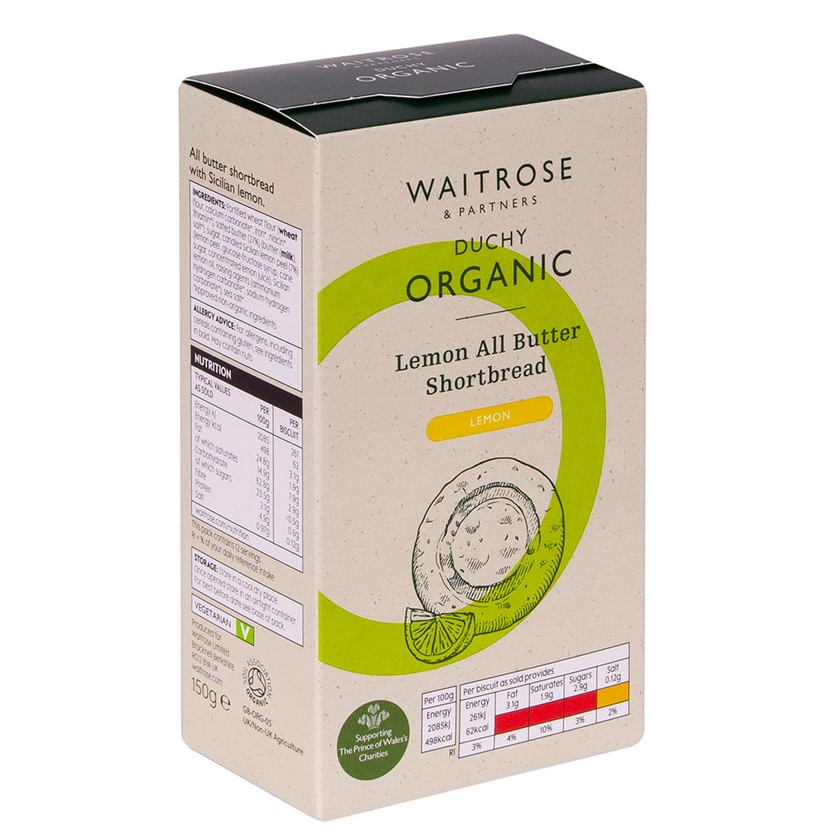 Duchy Originals Shortbread Zitrone Bio 150g