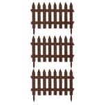 BigDean Gartenzaun Classic Dunkelbraun 9,6m x 0,35m Beetbegrenzung Beeteinfassung Zaun