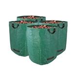 BigDean 4er Set Gartenabfallsack XXL 272L groß - aus Polypropylen-Gewebe 150g/m² - robust & wasserdicht - Gartensack Laubsack Grünabfall Müllsack für Garten