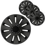 """BigDean 4er Set 15 Zoll Radkappen Black Edition - Universal Radzierblenden für Autofelgen - Premium Line Zierkappen 15"""" - Radblenden aus robustem ABS Kunststoff"""