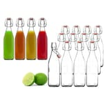 BigDean 12x Glasflasche 500ml Bügelverschluss Milchflasche Saftflasche Ölflasche Bügelverschlussflasche