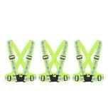 BigDean 3x Reflektorweste Kinder Sicherheitsweste Warnweste reflektierende Weste Sport & Freizeit DIN EN 13356