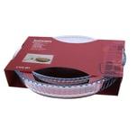 Pasabahce Borcam 2-teiliges Auflaufform-Set aus Glas Tarte Quiche Pie Kuchenbackform rund