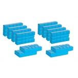 BigDean 12er Set 750 g Kühlakkus - Kühlelemente mit 400 ml - Kühlleistung über 8 std - Für Kühltasche im Campingbereich, Outdoor, Kühlschrank - Ungiftig - Made in Europe