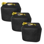 BigDean 3x 20L Kraftstoffkanister Benzinkanister Kraftstoff Reserve UN-Zulassung