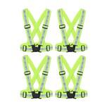 BigDean 4x Reflektorweste Erwachsene Sicherheitsweste Warnweste reflektierende Weste Sport & Freizeit DIN EN