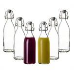 BigDean 6x Glasflaschen mit Bügelverschluss 500ml - Hochwertige Qualität Made in Germany - Bügelflaschen Likörflaschen Einmachflaschen Flaschen zum Befüllen & Einkochen