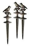 BigDean 3x Gartenschlauch Umlenkrolle Vogel Gusseisen Schlauchführung Rost Braun Gußeisen Gartenschlauchführung