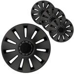 """BigDean 4er Set 16 Zoll Radkappen Black Edition - Universal Radzierblenden für Autofelgen - Premium Line Zierkappen 16"""" - Radblenden aus robustem ABS Kunststoff"""
