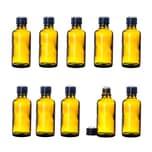 BigDean 10x Apotheker-Glasflaschen 50 ml - Braunglas mit Tropfeinsatz - Dosierung von Flüssigkeiten