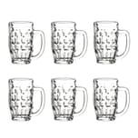 Bormioli Rocco Malles 6er Set Bierseidel 370 ml - Füllstrich 0,3 l - Bierkrug, Bierglas - Massiv & robust