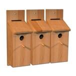 BigDean 3x Nistkasten Selbstbauset Vogelhaus Vogelhäuschen Nisthaus Meisenhaus Kleinvögel Meisenkasten