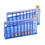 BigDean 2er Set Euro Münzsortierer Spardose blau 24 cm - abschließbar mit Schlüssel - Münzzähler Geldsortierer Münzsammler Geld-Zähler für Kleingeld und Scheine