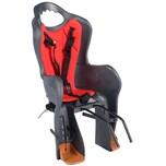 HTP-Design Kinder Fahrradsitz Grau Anthrazit / Rot Fahrradkindersitz Kindersitz TÜV EN 14344