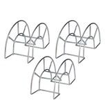 BigDean 3x Gartenschlauchhalter aus Metall verzinkt 28 x 17 cm - Für eine Schlauchlänge von bis zu 35 Metern - Auch für Gartengeräte mit Kabel - Aufhängung mit Schrauben