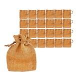 BigDean 24 Jutesäckchen für Adventskalender zum Selbst Befüllen & Geschenke - 10x15 cm klein - Nikolaus Jutebeutel Jutesäcke