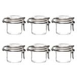 Bormioli Rocco 6er Set Fido Einmachglas mit Bügelverschluss - Füllmenge 200ml - 0,2L - Luftdichte Konservierung - Rundes Dessertglas Einmachgläser Vorratsglas Glas