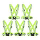 BigDean 5x Reflektorweste Erwachsene Sicherheitsweste Warnweste reflektierende Weste Sport & Freizeit DIN EN 13356