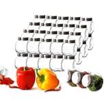 BigDean 48x kleine Gewürzgläser 200 ml mit Schraubdeckel - Gewürzbehälter-Set - Eckige Gewürzgläser aus Glas - Zum Stellen, Legen & Kippen - Luftdicht - Vorratsgläser, Gewürzdosen
