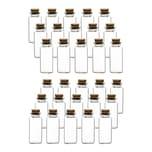BigDean 30er Set Glasfläschchen 30 ml mit Korken-Deckel - Mini Gewürzgläser 7,5x3 cm