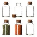 BigDean 6er Set Gewürzgläser mit Korken-Deckel 300 ml Rund - Gewürzdosen aus Glas - Vorratsgläser ideal als Aufbewahrung für Gewürze, Kräuter & Tee