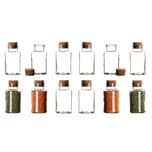 BigDean 12er Set Gewürzgläser mit Korken-Deckel 300 ml Rund - Gewürzdosen aus Glas - Vorratsgläser ideal als Aufbewahrung für Gewürze, Kräuter & Tee