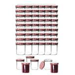 60x Einmachgläser 350 ml für Pasteurisierung TO 82 - Made in Germany - Marmeladengläser mit Schraub-Deckel Karo-Muster - Einmachgläser - Honiggläser - Als Gastgeschenk